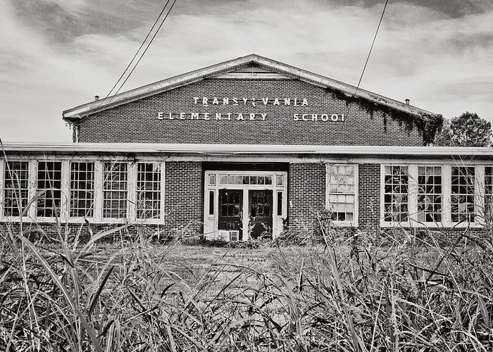 Transylvania Greeting Card featuring the photograph Elementary School by Scott Pellegrin