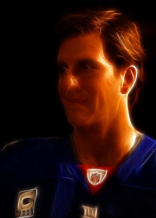 Lee Dos Santos Greeting Card featuring the photograph Eli Manning - New York Giants - Quarterback - Super Bowl Champion by Lee Dos Santos