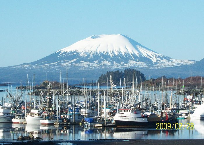 Mt. Edgecombe Greeting Card featuring the photograph Eliason Harbor by Tracy Jacobson