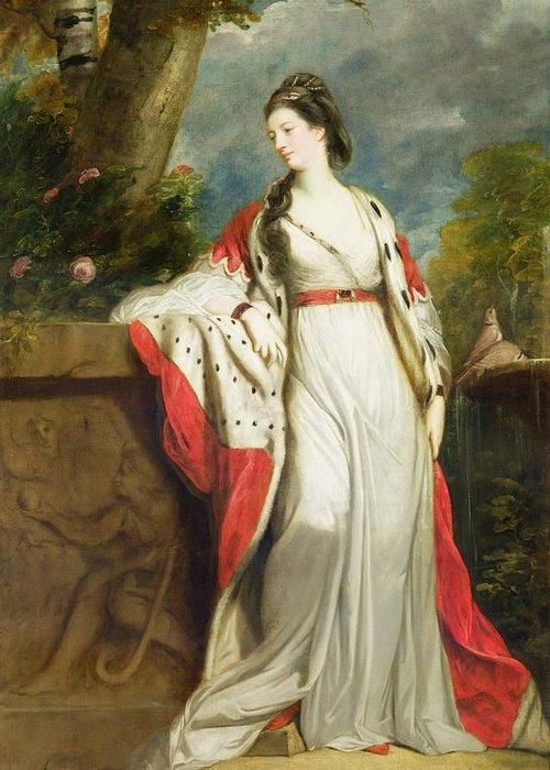 Elizabeth Greeting Card featuring the painting Elizabeth Gunning - Duchess Of Hamilton And Duchess Of Argyll by Sir Joshua Reynolds