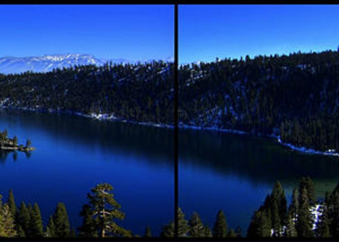Emerald Bay Greeting Card featuring the photograph Emerald Bay Panorama Lake Tahoe by Brad Scott