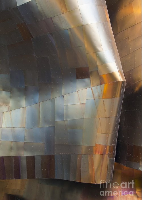 Emp Greeting Card featuring the photograph Emp Abstract Fold by Chris Dutton