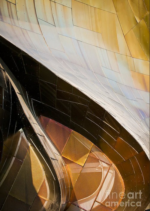 Experience Music Project Greeting Card featuring the photograph Emp Curves by Chris Dutton