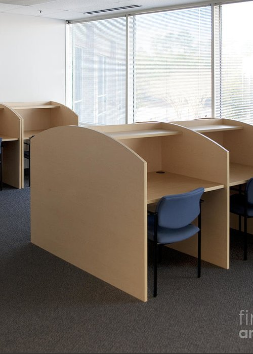 Architecture Greeting Card featuring the photograph Empty Carrels by Will & Deni McIntyre