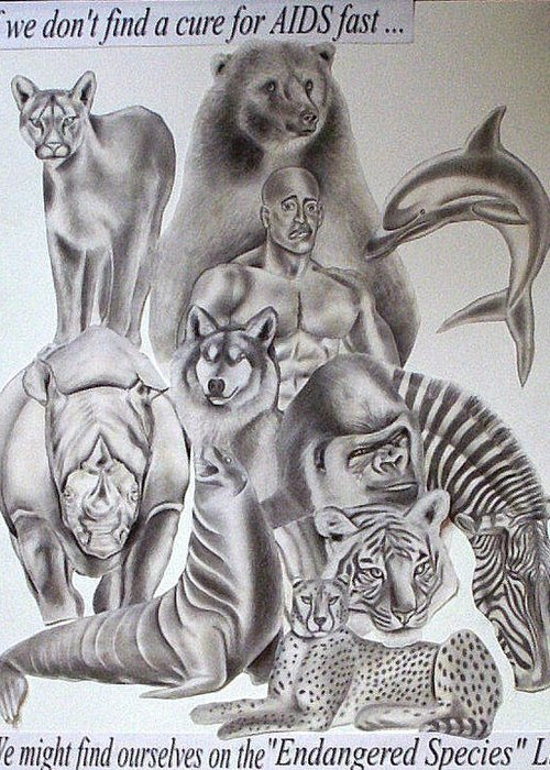 Portraits Greeting Card featuring the drawing Endangered Species by Rick Hill