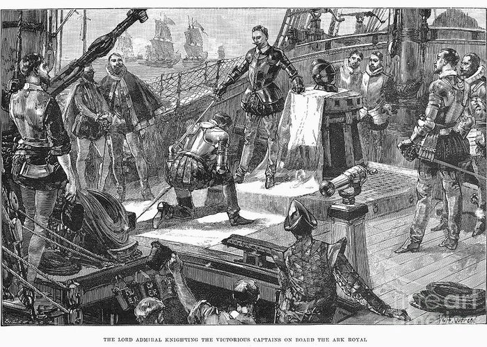 1588 Greeting Card featuring the photograph England: Victory, 1588 by Granger