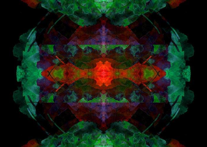Abstract Greeting Card featuring the digital art Enigma 7 by Lynda Lehmann