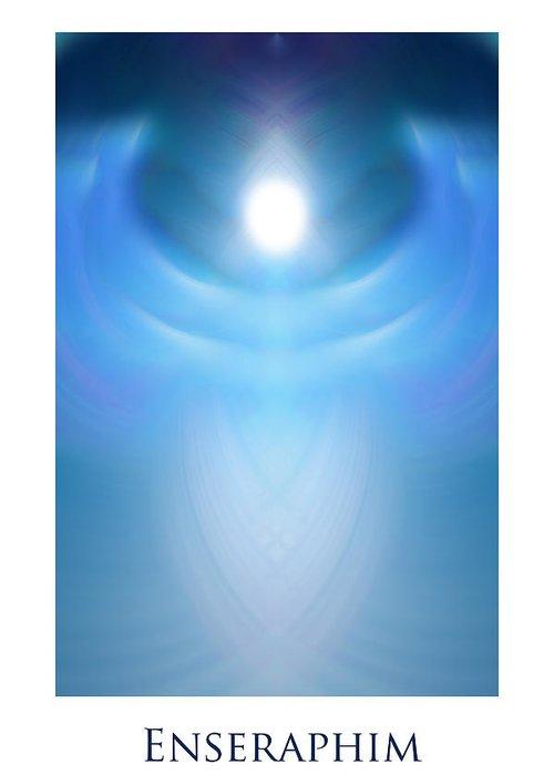 Urantia Greeting Card featuring the digital art Enseraphim by Jeff Haworth
