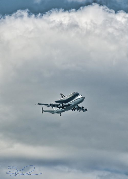 Shuttle Greeting Card featuring the photograph Enterprise 4 by S Paul Sahm