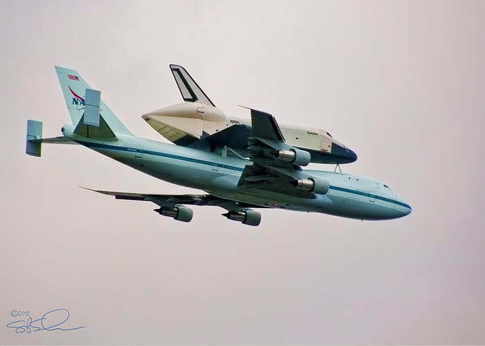 Shuttle Greeting Card featuring the photograph Enterprise 6 by S Paul Sahm
