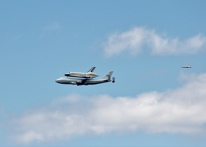 Enterprise Greeting Card featuring the photograph Enterprise Flyby by Rita Tortorelli