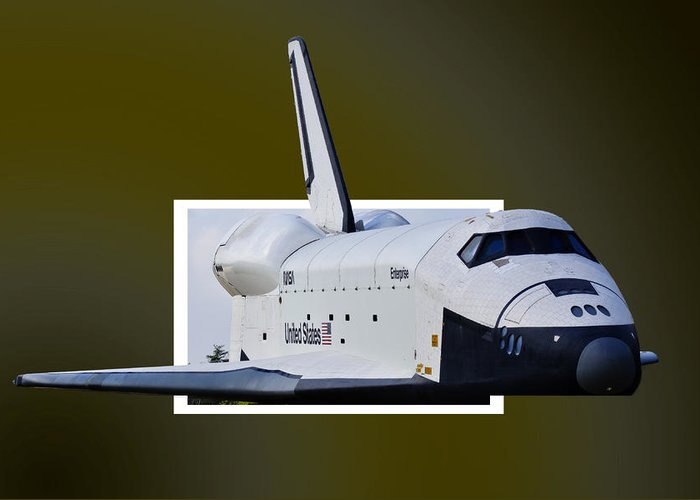 Space Greeting Card featuring the photograph Enterprise by Lawrence Ott