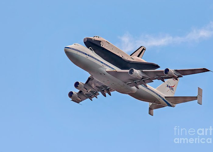 Space Shutle Enterprise Greeting Card featuring the photograph Enterprise Space Shuttle by Susan Candelario