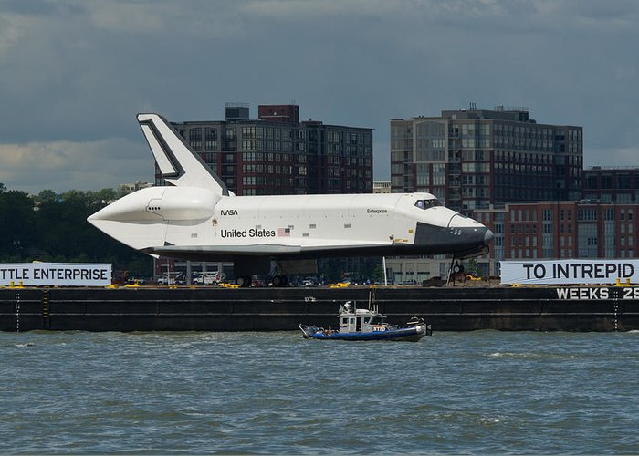 Space Shuttle Greeting Card featuring the photograph Enterprise To Intrepid by Gary Eason