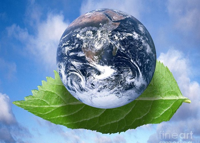 Planet Greeting Card featuring the digital art Environmental Issues by Victor de Schwanberg and Photo Researchers