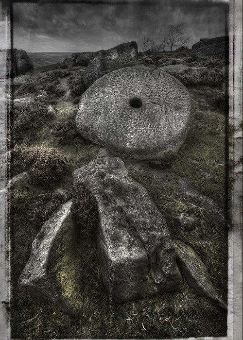 Millstone Greeting Card featuring the photograph Epitaph by Andy Astbury