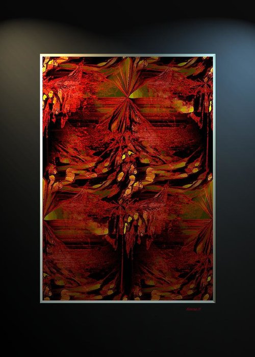 Abstract Greeting Card featuring the digital art Ess-y by Ines Garay-Colomba