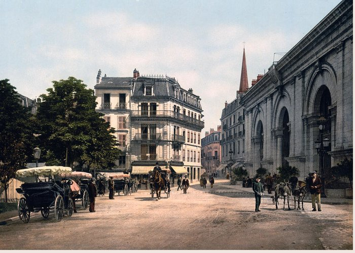 Aix Greeting Card featuring the photograph Etablissement Thermal - Aix France by International Images