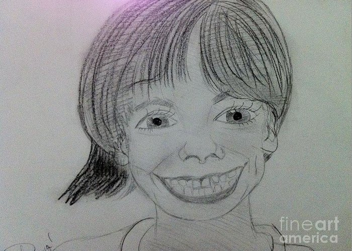 The Late Missing Child Greeting Card featuring the drawing Etan Patz by Charita Padilla