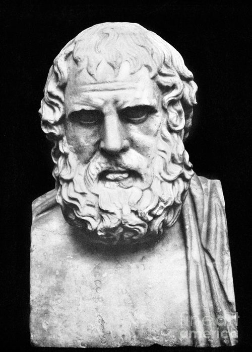 5th Century B.c Greeting Card featuring the photograph Euripides by Granger