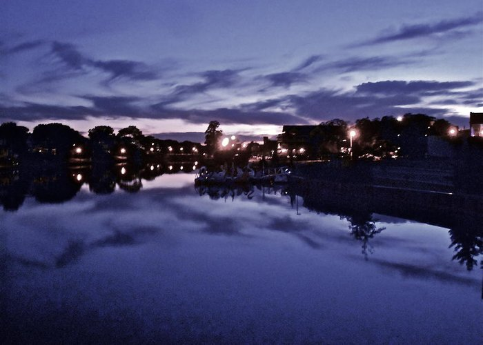 Landscape Greeting Card featuring the photograph Evening Blues by Joe Burns