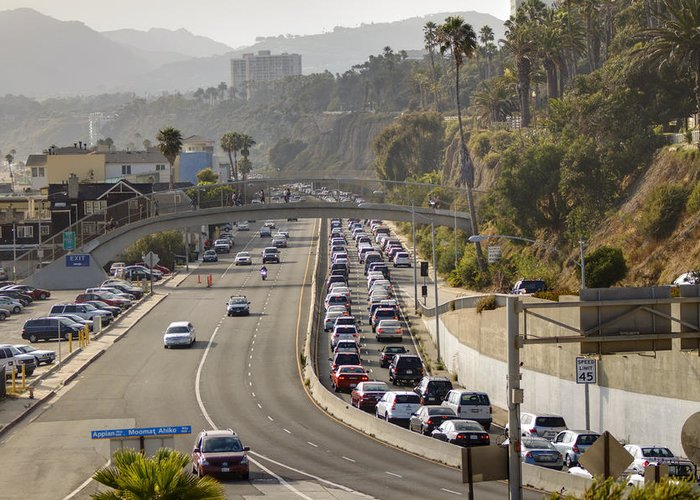 Beach Greeting Card featuring the photograph Evening Commute by Ricky Barnard