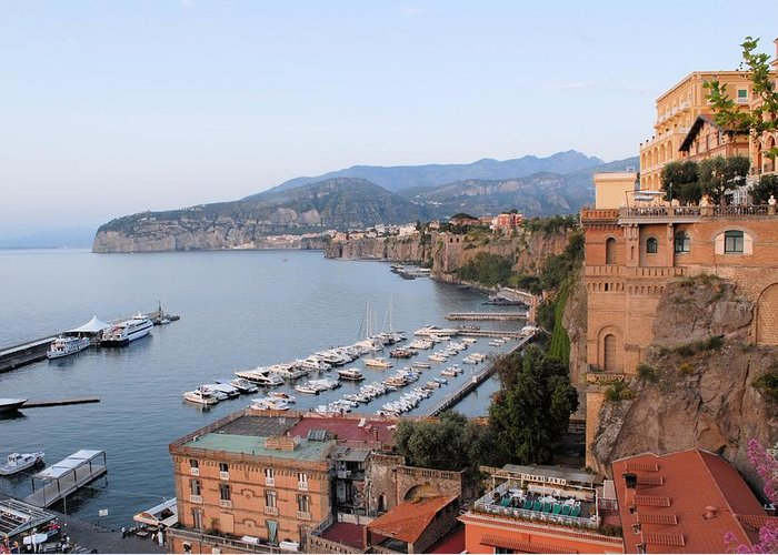 Sorrento Greeting Card featuring the photograph Evening On The Bay by