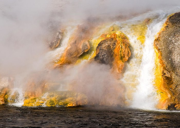 Yellowstone Greeting Card featuring the photograph Excelsior Geyser by Steve Stuller