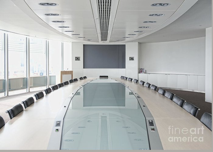 Architecture Greeting Card featuring the photograph Executive Boardroom by Dave & Les Jacobs