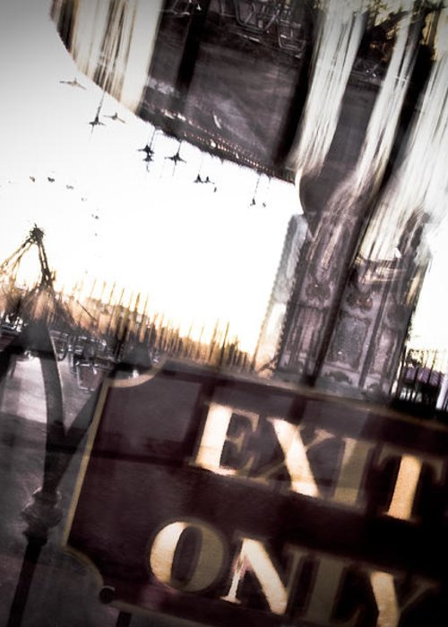 New Orleans Greeting Card featuring the photograph Exit Only by Pixel Perfect by Michael Moore