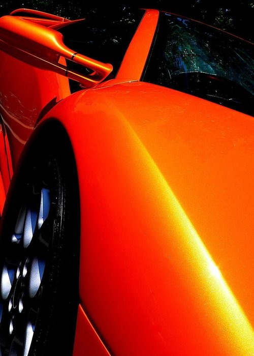 Exotic Car Greeting Card featuring the photograph Exotic Lamborghini by Jeff Lowe