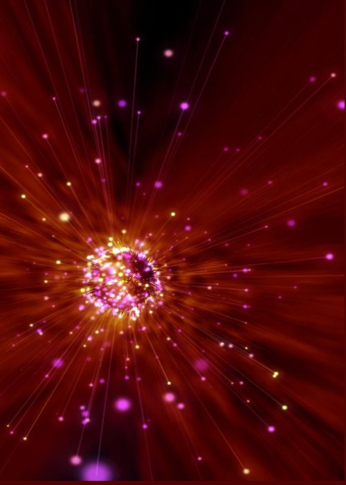 Artwork Greeting Card featuring the photograph Exploding Star, Conceptual Artwork by Victor Habbick Visions