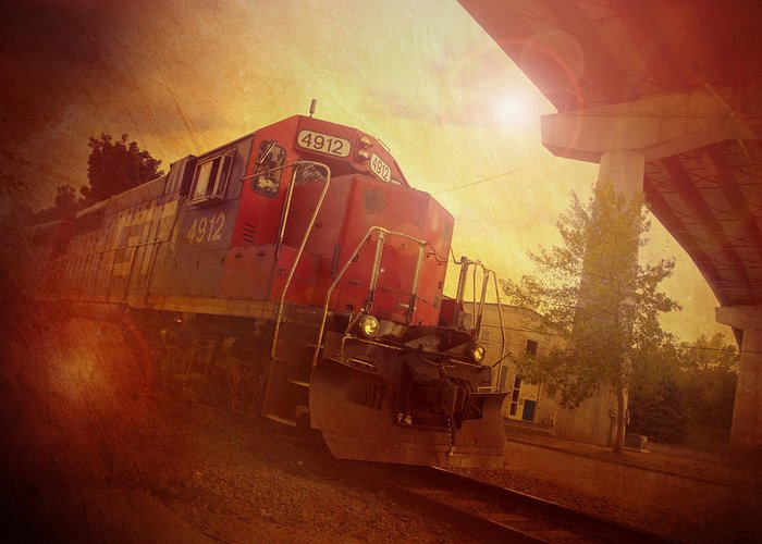 Train Greeting Card featuring the photograph Express Train by Joel Witmeyer