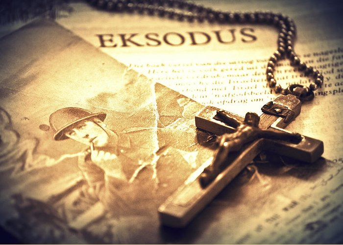 Cross Greeting Card featuring the photograph Exsodus by Eduan Heyns