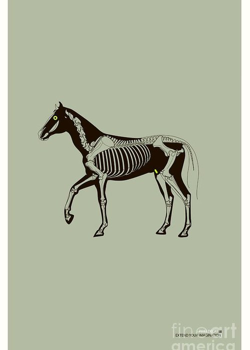 Horse Greeting Card featuring the digital art Extend Your Imagination by Yana Krachunova