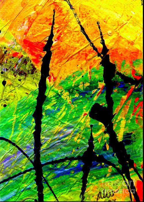 Vibrant Greeting Card featuring the painting Extreme Ecstasy by Angela L Walker