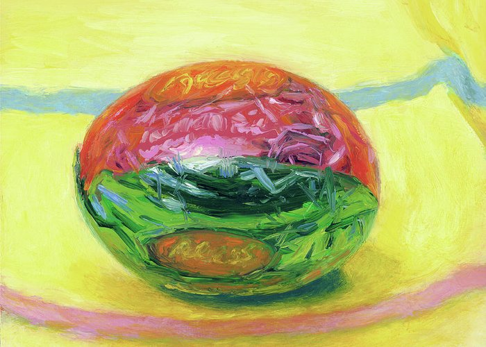 Still Life Greeting Card featuring the painting Eye Candy by Scott Bennett