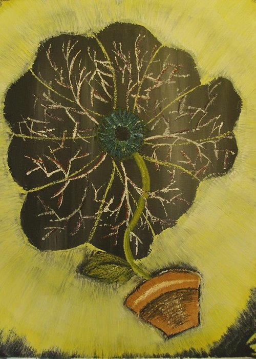Eye Greeting Card featuring the painting Eye Flower by Terrence McLean