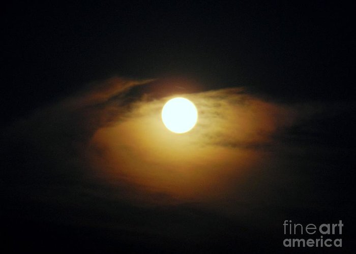 Sky Greeting Card featuring the photograph Eye Moon by Mariana Robu