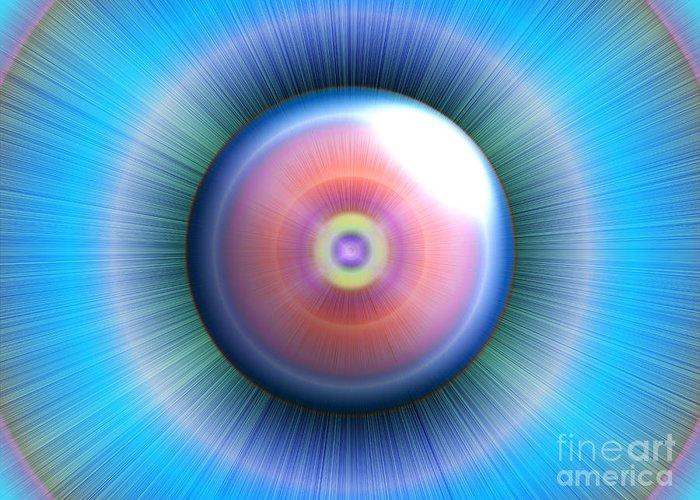 Eye Greeting Card featuring the digital art Eye by Nicholas Burningham