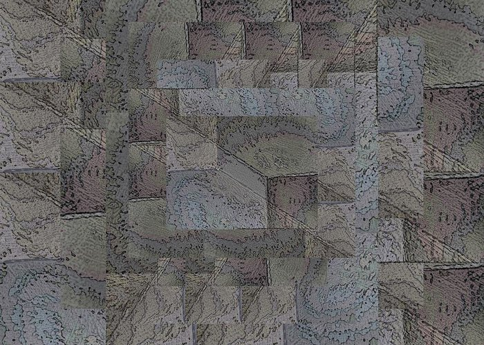 Abstract Greeting Card featuring the digital art Facade 4 by Tim Allen