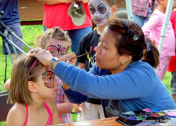 American Greeting Card featuring the photograph Face Painting 2010 by Glenn McCurdy