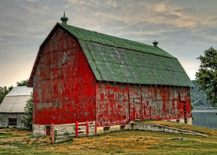 Barn Greeting Card featuring the photograph Fading by Tim Wilson