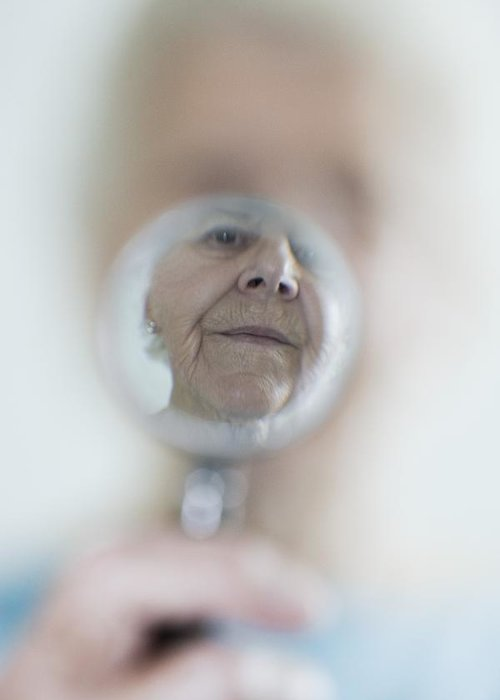 Aging Greeting Card featuring the photograph Failing Eyesight, Conceptual Image by Cristina Pedrazzini