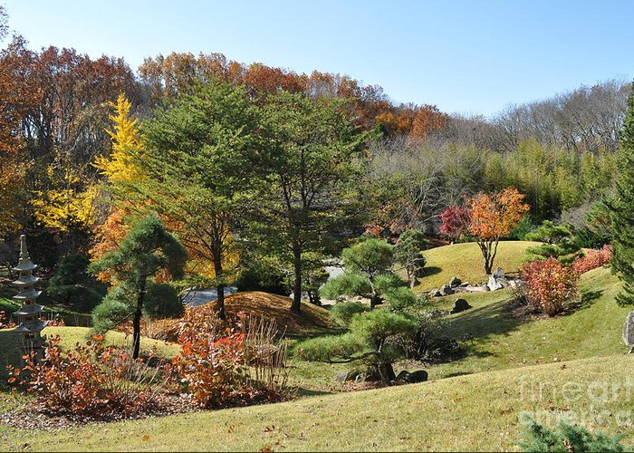 Cheekwood Gardens Greeting Card featuring the photograph Fall Colors by Denise Ellis