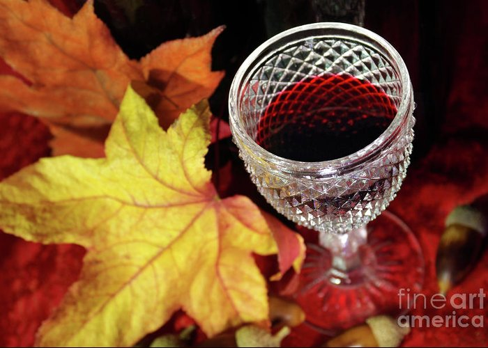 Acorn Greeting Card featuring the photograph Fall Red Wine by Carlos Caetano