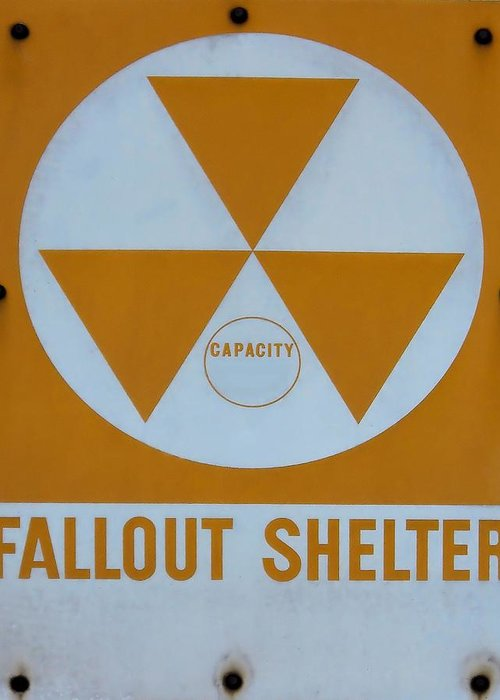 Photography Greeting Card featuring the photograph Fallout Shelter by Lynnette Johns