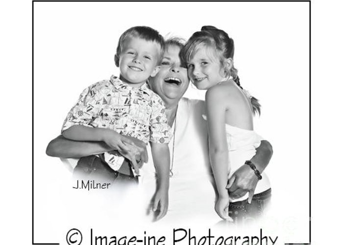 Greeting Card featuring the photograph Family 1040 by Jacqueline Milner