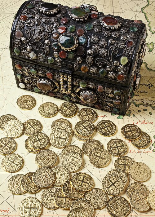 Treasure Greeting Card featuring the photograph Fancy Treasure Chest by Garry Gay