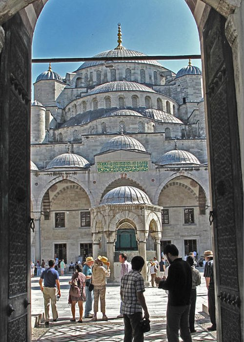 Istanbul Greeting Card featuring the photograph Far From Home by Ian MacDonald